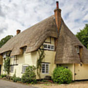 Thatched Cottages Of Hampshire 18 Art Print