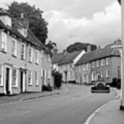 Thaxted Cottages In Black And White Art Print