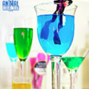 The 1-18 Animal Rescue Team - Cat In Cocktail Glass Art Print