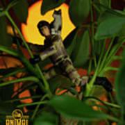 The 1-18 Animal Rescue Team - Cat In Jungle Art Print