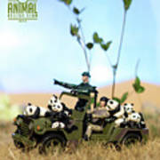 The 1-18 Animal Rescue Team - Pandas On The Savannah Art Print