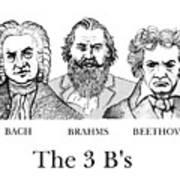 The 3 B's Art Print