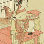 The Actor Segawa Kikunojo II, Possibly As Princess Ayaori In The Play Ima O Sakari Suehiro Genji  Art Print