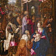 The Adoration Of The Magi Art Print
