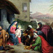 The Adoration Of The Magi Print by Jean Pierre Granger