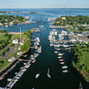 The Aerial View To The Mamaroneck Marina, Westchester County Art Print