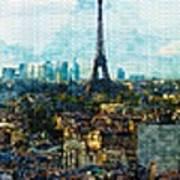 The Aesthetic Beauty Of Paris Tranquil Landscape Art Print