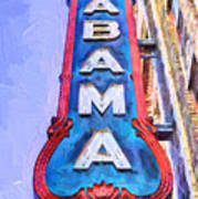 The Alabama Theater Art Print