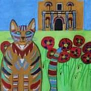 the Alamo Cat Art Print