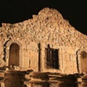 The Alamo On A Cloudless Night Art Print