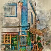 The Albar Coffee Shop In Alvor. Art Print