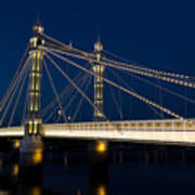The Albert Bridge London Art Print by David Pyatt