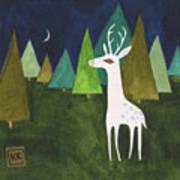 The Albino Deer Art Print