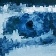 The All Seeing Blue Eye Art Print