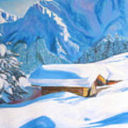 The Alpine Hut Art Print