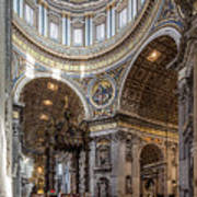 The Altar And Dome In St Peter's Basilica Art Print