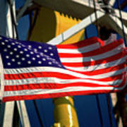 Tribute To The American Flag Oil Industry Art Print