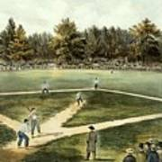 The American National Game Of Baseball Grand Match At Elysian Fields Art Print by Currier and Ives