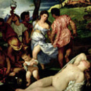 The Andrians Print by Titian