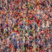The Anonymous Croud Print by Denis Bouchard