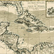 The Antilles And The Gulf Of Mexico Art Print by Guillaume Raynal