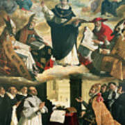 The Apotheosis Of Saint Thomas Aquinas Art Print by Francisco de Zurbaran