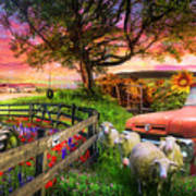 The Appalachian Farm Life In Beautiful Morning Light Art Print