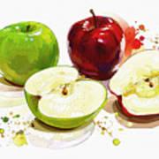 The Apple Focus Art Print