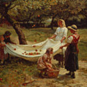 The Apple Gatherers Art Print by Frederick Morgan