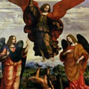 The Archangels Triumphing Over Lucifer Art Print