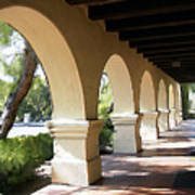 The Arches Mission Santa Ines Art Print