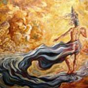 The Arrival Of The Goddess Of Consciousness Art Print