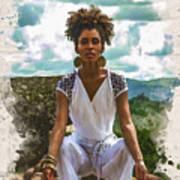 The Art Of Yoga Art Print