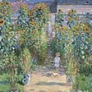 The Artists Garden At Vetheuil Art Print