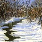 The Assabet River In Winter Art Print