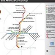 The Atlanta Pubway Map Art Print