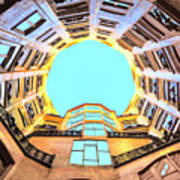 The Atrium At Casa Mila Art Print