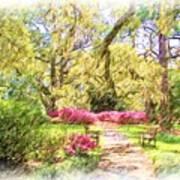 The Azalea Garden Art Print