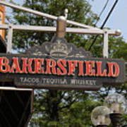 The Bakersfield Sign Art Print
