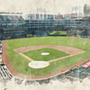 The Ballpark Art Print by Ricky Barnard