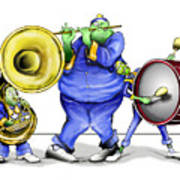 The Band Plays On Art Print