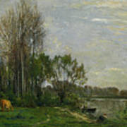 The Banks Of The Oise Art Print
