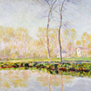 The Banks Of The River Epte At Giverny Art Print