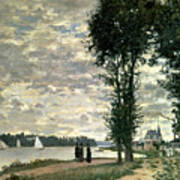 The Banks Of The Seine At Argenteuil Art Print
