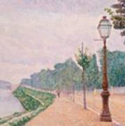 The Banks Of The Seine At Neuilly 1886 Art Print