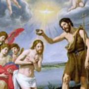 The Baptism Of Christ Print by Ottavio Vannini