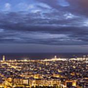 The Barcelona City Skyline, Spain Art Print