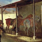The Barn Of Marechal-ferrant Print by Theodore Gericault