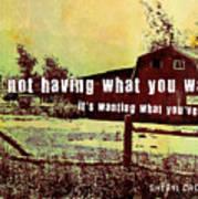 The Barn Quote Art Print
