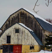 The Barn With A Red Door Art Print